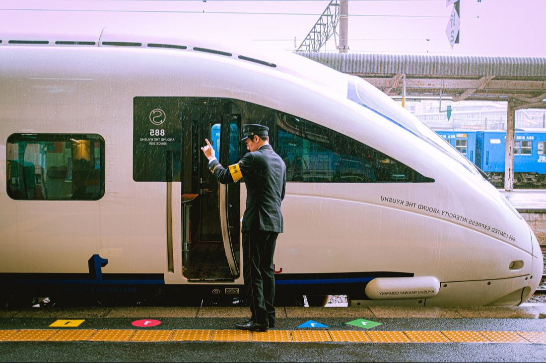 A high-speed train in Japan